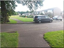 SZ1094 : Strouden: footpath K09 leaves the side of Mallard Road by Chris Downer