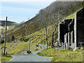 SN7974 : Remains of Miners' Cottages, Cwmystwyth Lead Mines by David Dixon