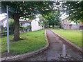 SZ1194 : Strouden: footpath K32 from Vanguard Road by Chris Downer
