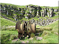 SO2308 : Winding drum at Coity-mawr Quarry by Gareth James
