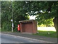 SJ8542 : Clayton: bus stop and shelter on Ferndown Drive South by Jonathan Hutchins