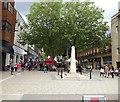 TL1998 : Bridge Street & Peterborough War Memorial by Geographer