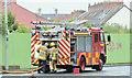 J3473 : Fire appliance, Ormeau Embankment, Belfast (June 2016) by Albert Bridge