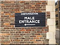 TL1898 : Sign on Peterborough Museum Wall by Geographer