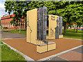 SJ8198 : Ducie Gates Entrance to Peel Park by David Dixon