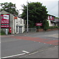 ST3589 : Red Key advert on a derelict building, Royal Oak, Newport by Jaggery