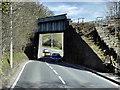 SN6080 : Railway Bridge over the A44 near to Llanbadarn Fawr by David Dixon