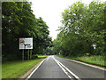 TL8978 : A1088 Thetford Road & Roadsign by Adrian Cable