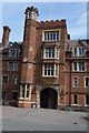 TL4357 : Entrance, Selwyn College by N Chadwick