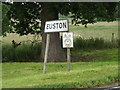 TL8979 : Euston Village Name sign on the A1088 Thetford Road by Adrian Cable
