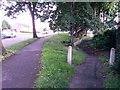 SZ0695 : West Howe: footpath U29 leaves Moore Avenue by Chris Downer