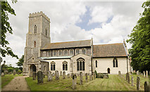 TG1020 : St Mary's church, Great Witchingham by Julian P Guffogg