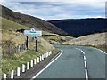 SN8084 : A44 Mountain Road at the Ceredigion/Powys Border by David Dixon