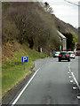SN8681 : Layby on Eastbound A44 near Tynllechwedd by David Dixon