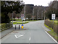 SN9583 : Llanidloes, Traffic Calming near the High School by David Dixon