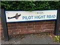 SZ0695 : West Howe: Pilot Hight Road sign by Chris Downer
