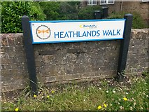 SZ0595 : West Howe: sign on Heathlands Walk by Chris Downer