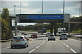 NS6466 : Glasgow City : The M8 Motorway by Lewis Clarke