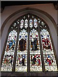 TL1998 : St John the Baptist, Peterborough: stained glass window (iv) by Basher Eyre