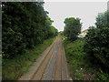 NY0436 : Railway line, Maryport by Graham Robson
