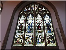 TL1998 : St John the Baptist, Peterborough: stained glass window (x) by Basher Eyre