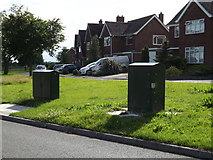 TM3876 : Telecommunication Boxes off the B1117 Walpole Road by Adrian Cable