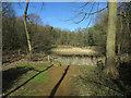 TG1241 : Pond in Sheringham Park by Hugh Venables