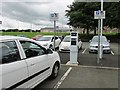 NT2791 : Electric vehicle charging point at Kirkcaldy railway station by Bill Kasman