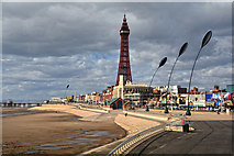 SD3035 : Blackpool : Promenade by Lewis Clarke