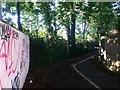 SZ0992 : Springbourne: footpath C13 turns to abut the Wessex Way by Chris Downer