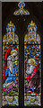 TG1222 : South chancel stained glass window, St Michael and All Angels' church, Booton by Julian P Guffogg