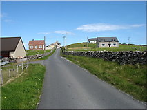 HU5564 : The road to Brough, Whalsay by David Purchase