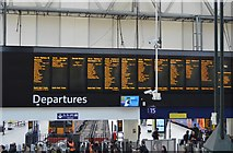 TQ3179 : Departure Boards, Waterloo Station by N Chadwick