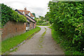TL8131 : Footpath on track to Wash Farm, Halstead by Roger Jones