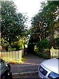 SZ0794 : Ensbury Park: footpath N08 leaves Forsyth Gardens by Chris Downer