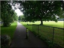SZ0794 : Ensbury Park: Slades Lane from Ensbury Avenue by Chris Downer
