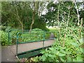 SJ8442 : Westbury Park: path to fields by Jonathan Hutchins