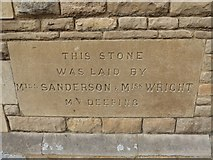TF1409 : Deeping Gate Congregational Church: foundation stone (II) by Basher Eyre