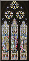 TG1222 : South stained glass window, St Michael and All Angels' church, Booton by Julian P Guffogg