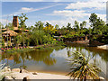 SJ4069 : Lazy River, Islands at Chester Zoo by David Dixon