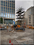 SJ8397 : Redevelopment of St Peter's Square, Re-erection of St Peter's Cross by David Dixon