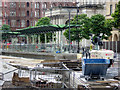 SJ8397 : Construction of New St Peter's Square Metrolink Stop - July 2016 by David Dixon