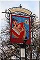 SP0937 : Crown & Trumpet Inn (3) - sign, 14 Church Street, Broadway, Worcs by P L Chadwick