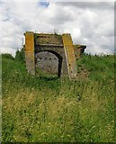 TQ7178 : Ruins of the explosives works, Cliffe marshes by Stefan Czapski