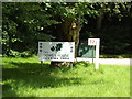 TL9783 : The Dower Touring Park sign by Adrian Cable