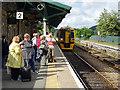 SH7401 : A Birmingham bound train arrives at Machynlleth by John Lucas