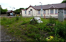 SS0699 : Manorbier railway station viewed from Station Road by Jaggery