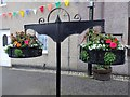 NO2522 : Hanging flower baskets, Errol by Stanley Howe
