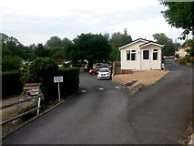 SZ0895 : Redhill: entering Redhill and Wheatplot Park Homes by Chris Downer