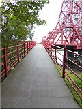 NZ4719 : Ramp up onto Tees Newport Bridge by Oliver Dixon